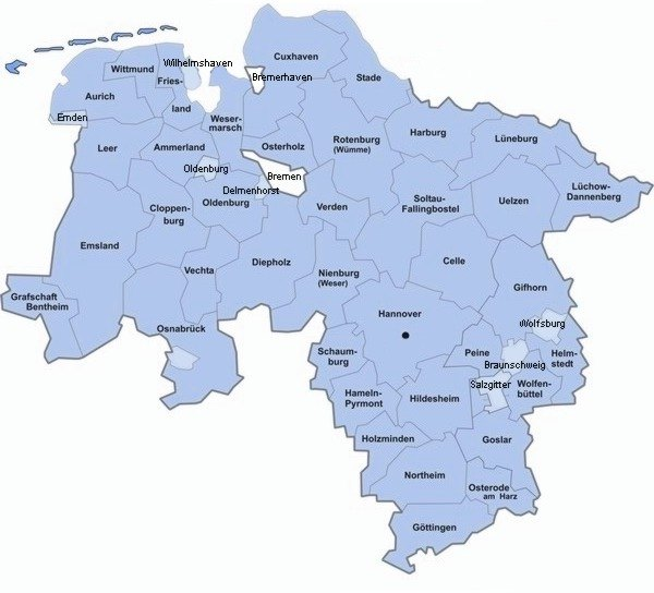 Landkreise Niedersachsen